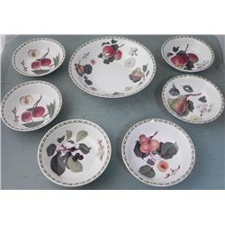 7 Hookers Fruit Royal Horticultural Soc. China Bowls