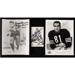 3) Signed Chicago Bears Photos and Print- George Musso