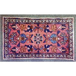 Vintage Oriental Small Wool Patterned Rug