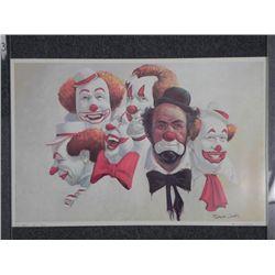 Robert Owen Clown Print -Burbank Six