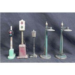 5 Lionel Vintage Crossings Signals & Lights Lamps