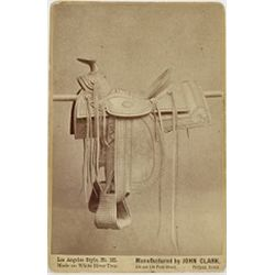 John Clark Saddlery advertising cabinet card