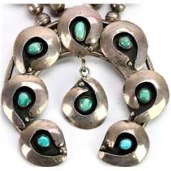 Old pawn Navajo squash blossom in sterling