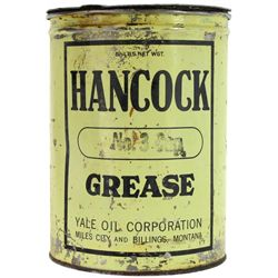 Original Hancock Grease tin from Miles City