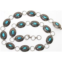 Navajo concho belt sterling silver with