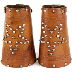 Minty pair leather unmarked cuffs