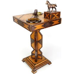 Canyon City prison made wood smoking stand