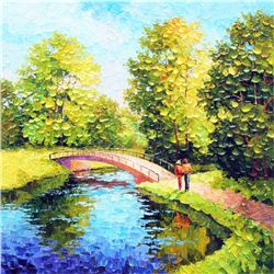 Alexander Antanenka, A Walk in the Fresh Air, Signed Canvas Giclee