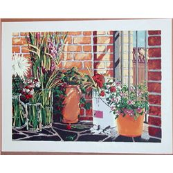Gregory Johnson, Patio Reflections, Signed Serigraph