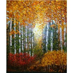 Wanda Kippenbrock, Aspen Country, Oil on Canvas