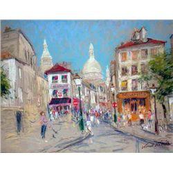 Kamil Kubik, Montmartre, Signed Pastel