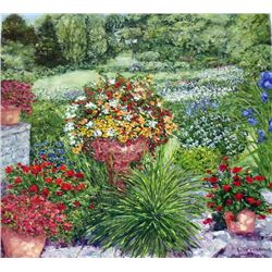 Wanda Kippenbrock, Formal Garden, Signed Canvas Print