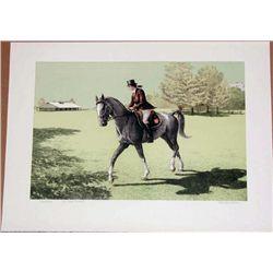 Mel Hunter, Saddlebred, Signed  Lithograph