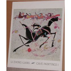 Li Zhong-Liang, Cave Paintings I Poster