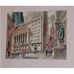 Kamil Kubik, The Stock Exchange, Signed Serigraph