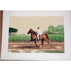 Mel Hunter, Tennesee Walker , Signed Lithograph