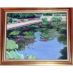 Paul Kentz, Brooklyn Botanical Gardens, Signed Oil