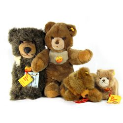 Collection of 4 Steiff Bears