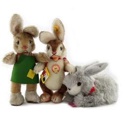 Collection of 3 Steiff Rabbits