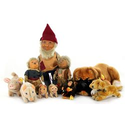 Collection of 10 Various Steiff Animals