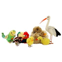Collection of 7 Steiff Birds