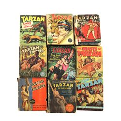 Collection of 9 Tarzan Big Little Books