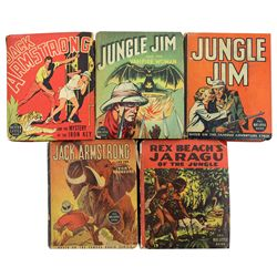 Collection of 5 Jungle Themed Big Little Books