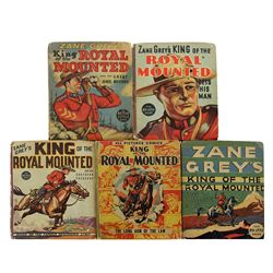 Collection of 5 Zane Grey's King of the Royal Mounted Big Little Books