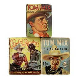 Collection of 3 Tom Mix Mini Books