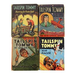 Collection of 4 Tailspin Tommy Big Little Books