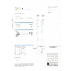 GIA Certified 1.05 carat Emerald Cut Diamond. H color/ VS1 Clarity. No Fluorescence- GIA 2145280465-