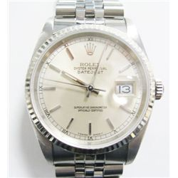 Model: 16200- Stainless Steel Rolex Oyster Perpetual Datejust Watch - 36mm case, crystal sapphire, s