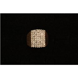 (1) 10ky ring with 63 round diamonds, est. 1.50 cttw, 13.2 grams