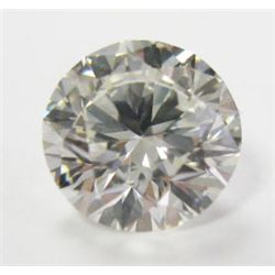 GIA Certified 1.51 carat Round Brilliant Cut Diamond. I color/VS2 clarity. No Fluorescence- GIA 2145