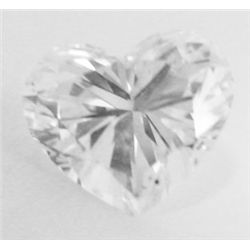 GIA certified - 1.22 carat Heart brilliant Diamond. D color- Si2 Clarity. No Fluorescence. GIA 51412