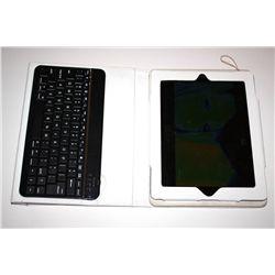 32 gig Ipad 2 with keyboard.