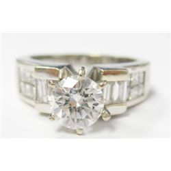 GIA Certified 1.06 carat Round Brilliant Cut Diamond. H color/SI1 clarity. (copy only) No Fluoresenc