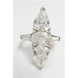 Platinum Ring w/ 3 GIA Certified Diamonds - GIA #2151405494, 1.16 carat Oval Brilliant- G color- VS2