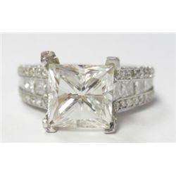 GIA Certified 3.02 carat Square Modified Brilliant Cut Diamond. J color/VS1 Clarity. No Fluoresence.
