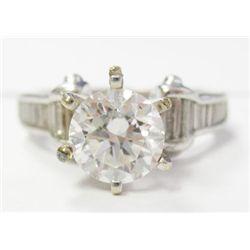 GIA Certified 1.02 carat Round Brilliant I color VS2 Clarity GIA 6147713481 6.37x6.44x4.00 18k  whit