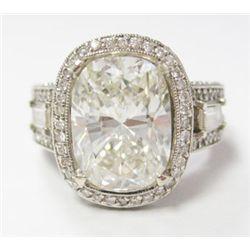 GIA Certified 5.05 carat Cushion Modified Brilliant Diamond w/ 18k WG Diamond Mounting -GIA# 8744409