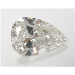 GIA Certified 1.53 carat Pear Brilliant Cut Diamond. H color/SI1 Clarity. GIA 2145955260, 9.84 x 6.7