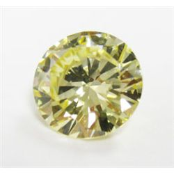 GIA Certified 2.13 carat Round Brilliant Cut Diamond - GIA # 2131794896, Natural Fancy yellow, even,