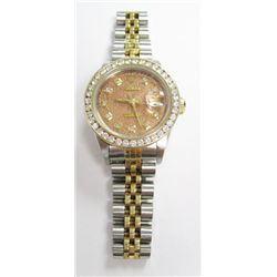 Ladies 18k Yellow Gold & Stainless Steel Rolex Oyster Perpetual Datejust Watch - 26mm case, sapphire