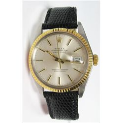 Gents 18k Yellow Gold & Stainless Steel Rolex Oyster Perpetual Datejust Watch - 36mm case, silver st