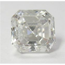 GIA Certified 3.12 Square Emerald Cut Diamond - GIA # 13780817, H color, SI1 clarity, 8.21 x 8.20 x