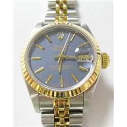 Ladies 18k Yellow Gold & Stainless Steel Rolex Oyster Perpetual Datejust Watch- 26mm case, sapphire
