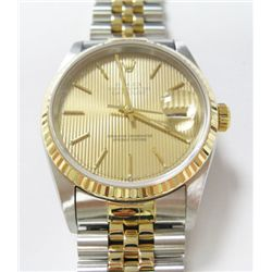 Gents 18k Yellow Gold & Stainless Steel Rolex Oyster Perpetual Datejust Watch - 36mm case, sapphire
