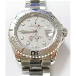 Gents Stainless Steel Rolex Oyster Perpetual Date Yacht master Watch - 40mm case, silver dial, rotat