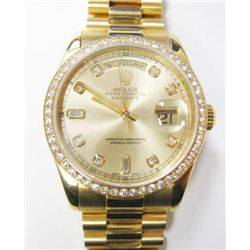 "Gents 18k Yellow Gold Rolex Oyster Perpetual Day-Date ""President"" Watch- 36mm case, Factory original"